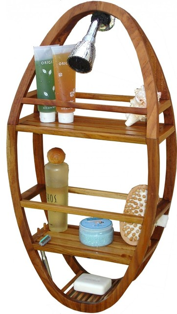 wood shower organizer 3