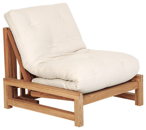 Linear - Single Seater Solid Birch Sofa Bed - Coastal ...