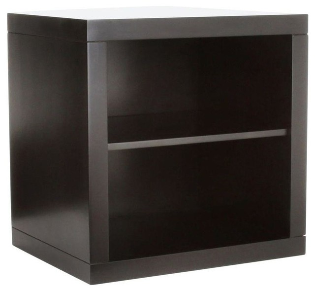 Zen Stackable Cube Open Shelf Espresso 14 Traditional
