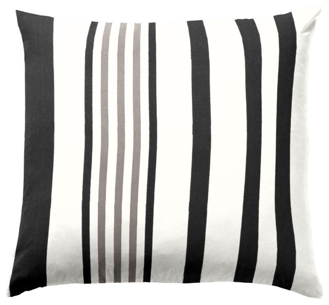 Grey Amp Black Striped Outdoor Pillow Outdoor Cushions And
