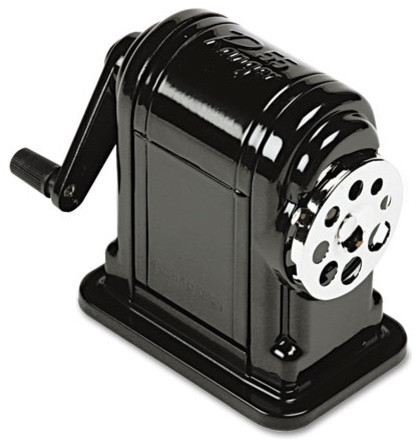 Table Mount Wall Mount Manual Pencil Sharpener Black