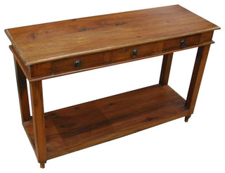 Solid wood entry sofa hall console foyer table rustic - Table vitroceramique 3 foyers ...
