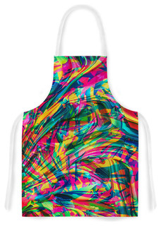 "Danny Ivan ""Wild Abstract"" Rainbow Illustration Artistic Apron"