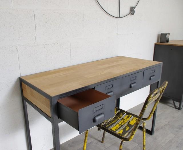 console tiroirs anciens industrial schreibtische aufs tze sonstige von heure cr ation. Black Bedroom Furniture Sets. Home Design Ideas