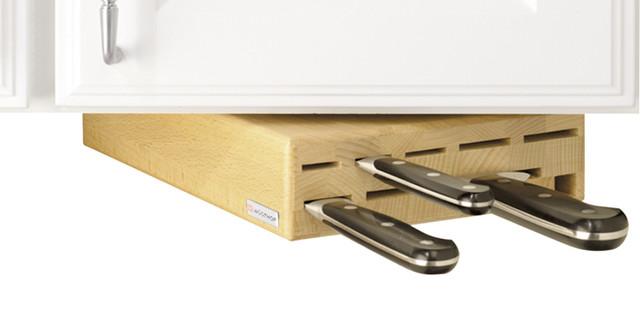 Wusthof 8001 under cabinet swinger knife storage block for Under cabinet knife drawer
