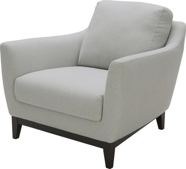 Baia fauteuil en tissu gris clair contemporain fauteuil par habitat officiel for Fauteuil salon contemporain