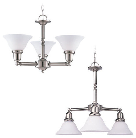 Sea Gull Lighting 31060 Wrought Iron 3 Light Up Lighting Chandelier From The