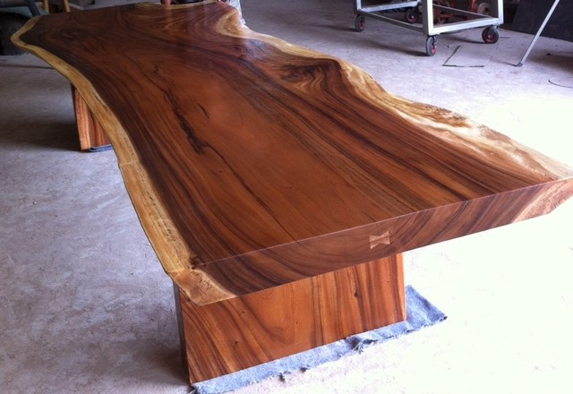 Dining Or Conference Table Reclaimed Solid Slab Acacia Wood By
