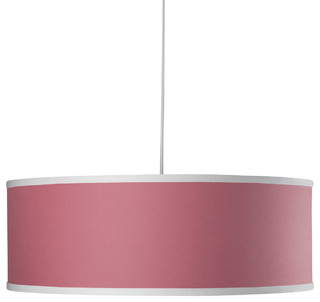 Shallow Solid Cylinder, Petal Pink - Contemporary - Pendant Lighting - by Oilo