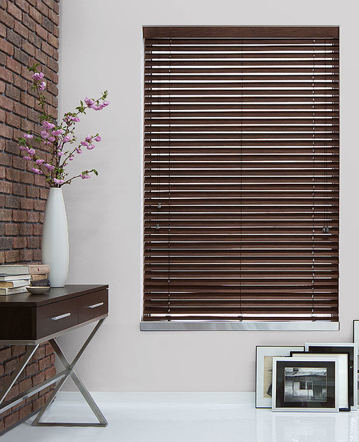 2 Bamboo Wood Blinds By The Shade Store Modern Window