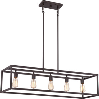 Harbor 5 Light Island Chandelier Industrial Kitchen Island Lighting By Lampclick