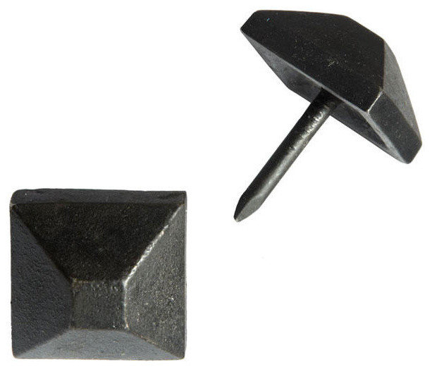 """Hand-Forged Iron Square Frustum Pyramid Clavos with 1"""" Nail - Set of 6 ..."""