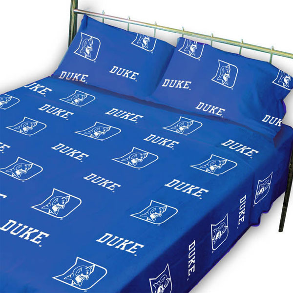 Ncaa Duke Blue Devils Collegiate Blue King Bed Sheet Set