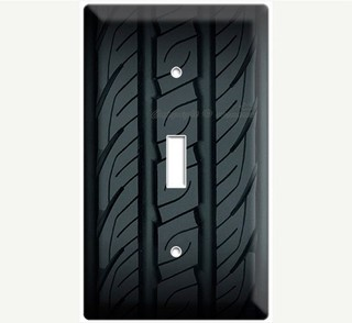 Rubber Car Tire Light Switch Cover By Decor Lounge