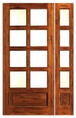 Prehung Rustic 8 Lite P B French Solid Wood 1 Panel Ig