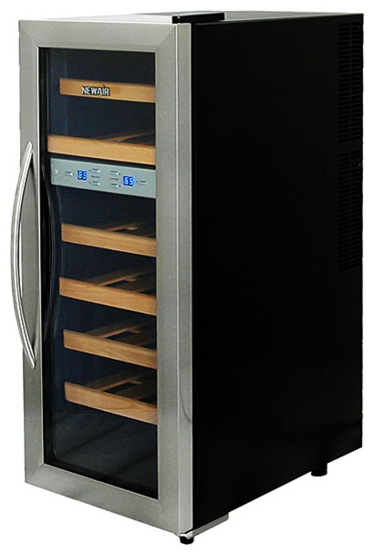 21 bottle thermoelectric wine cooler contemporary beer for Beer and wine cooler table