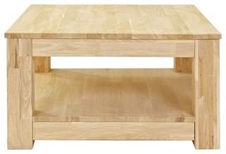 Table basse bois 70x70 carr e gerarda couleur ch ne for Carrelage exterieur 70x70
