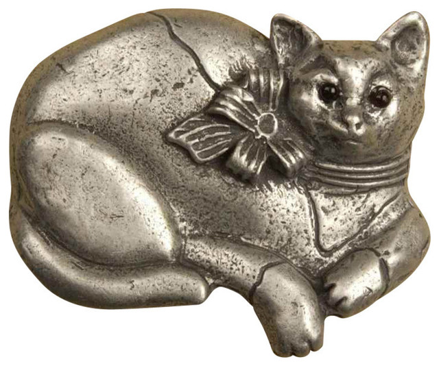 Calico cat lg pull Antique Copper Farmhouse Cabinet And Drawer Handle P