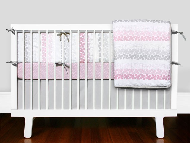 Olli lime logan crib bedding set modern baby bedding by fawn forest - Modern baby bedding sets ...