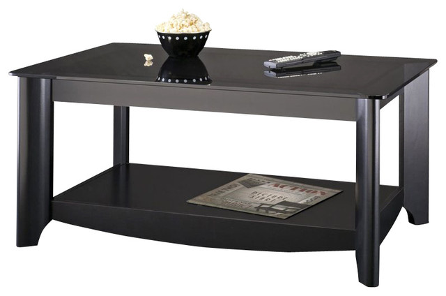 black coffee table transitional - photo #6