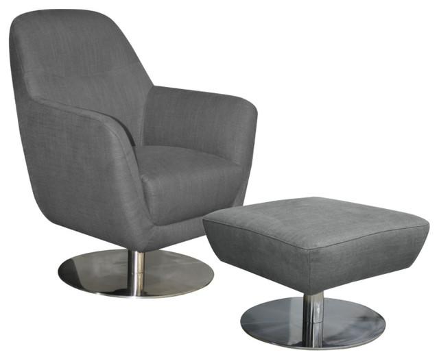 emerson fauteuil et repose pieds en tissu contemporain. Black Bedroom Furniture Sets. Home Design Ideas