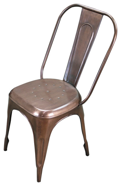 copper metal cafe chair industrial dining chairs. Black Bedroom Furniture Sets. Home Design Ideas