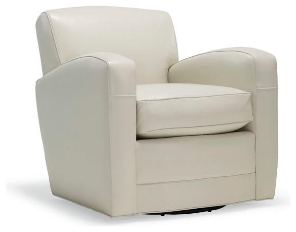 Ellis swivel chair modern armchairs accent chairs for Modern swivel accent chair