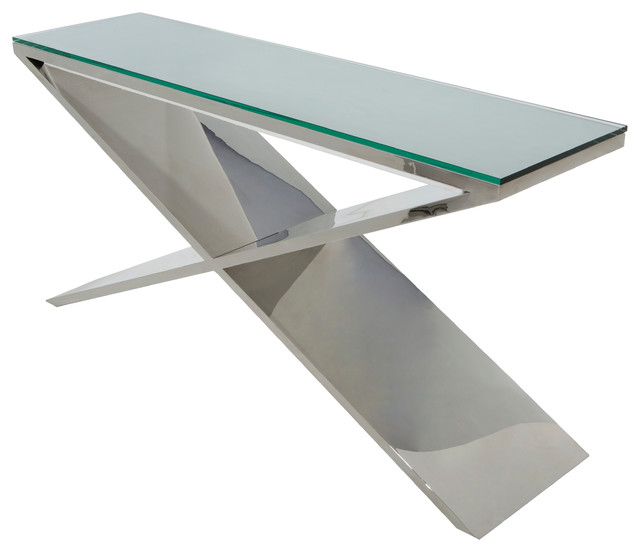 Prague Console Table In Stainless Steel By Nuevo HGTA635