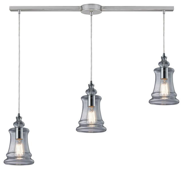 ELK Lighting Menlow Park 3-Light Multi-Pendant With Linear