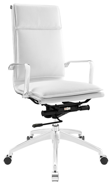 highback office chair in white modern office chairs by lexmod
