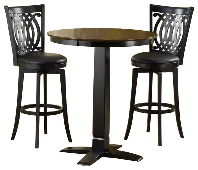 piece pub table and stools set transitional indoor pub and bistro sets