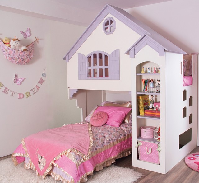 Amberly Dollhouse Bed - Contemporary - Kids Toys And Games - by Overstock.com
