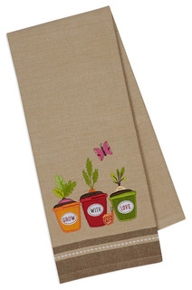 Grow With Love Embellished Dish Towels, Set of 2 ...