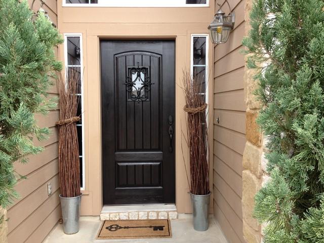 Fiberglass florentine speakeasy entry door rustic - Rustic fiberglass exterior doors ...