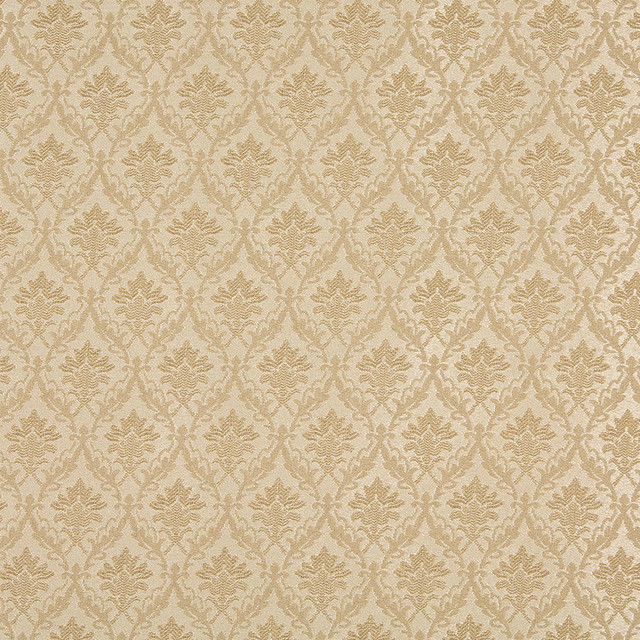 Beige And Tan Foliage And Bouquets Upholstery Fabric By
