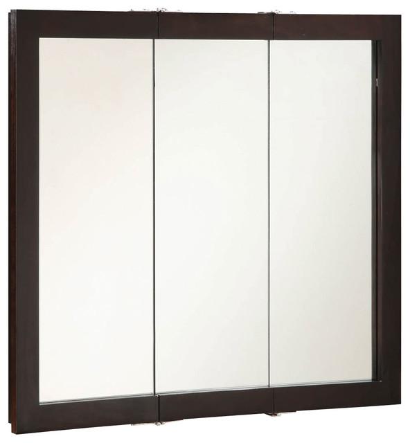 """Ventura 36""""x30"""" Medicine Cabinet Tri- Espresso Finish - Transitional - Medicine Cabinets - by ..."""