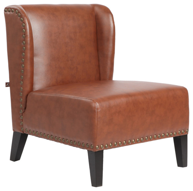 lugano accent chair saddle contemporary living room