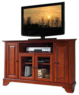 Crosley Furniture LaFayette 48 Inch Corner TV Stand in Classic Cherry ...