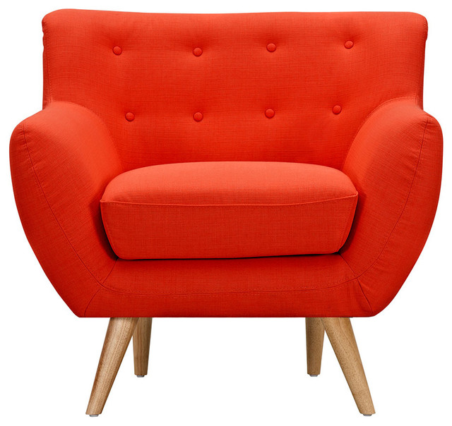 Image Gallery Orange Armchair