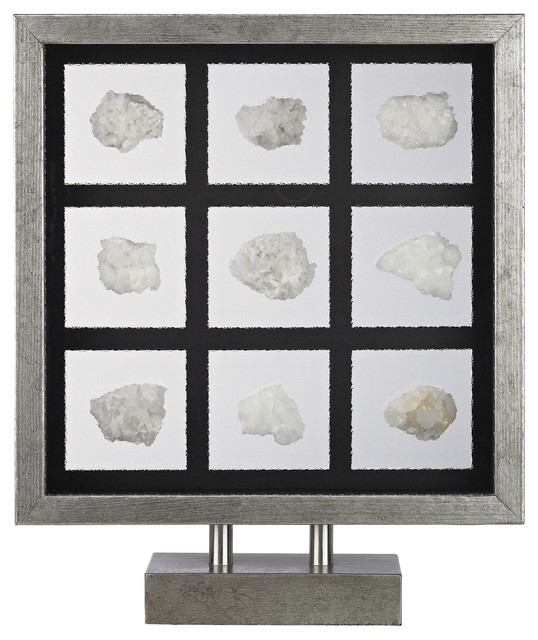 Natural mineral table top display contemporary for Modern decorative objects