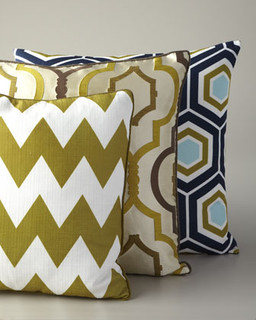 Throw Pillows Neutral : Geometric Pillows - Modern - Scatter Cushions - by Neiman Marcus
