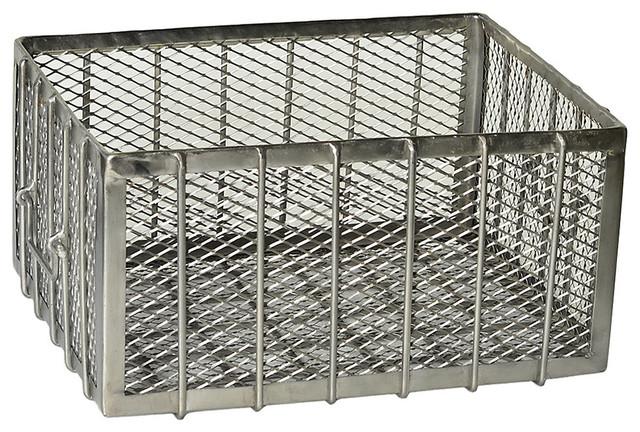 Bathroom wall storage baskets - Basket Stainless Steel Industrial Baskets By Smartfurniture