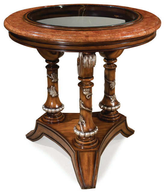 Traditional Foyer Table : Valentina foyer table traditional console tables by