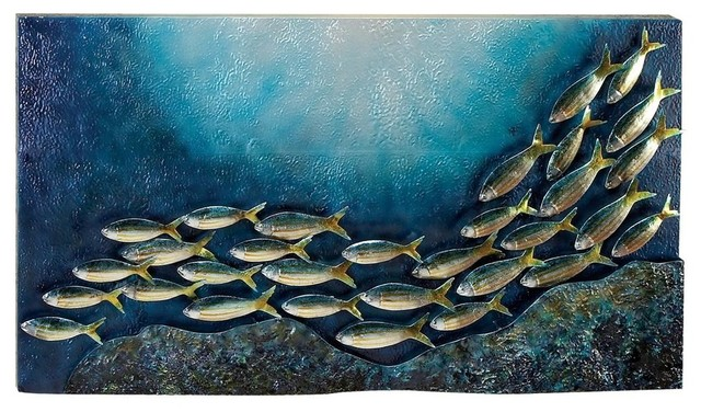 Metal fish wall decor contemporary artwork by shopladder for Metal fish art wall decor