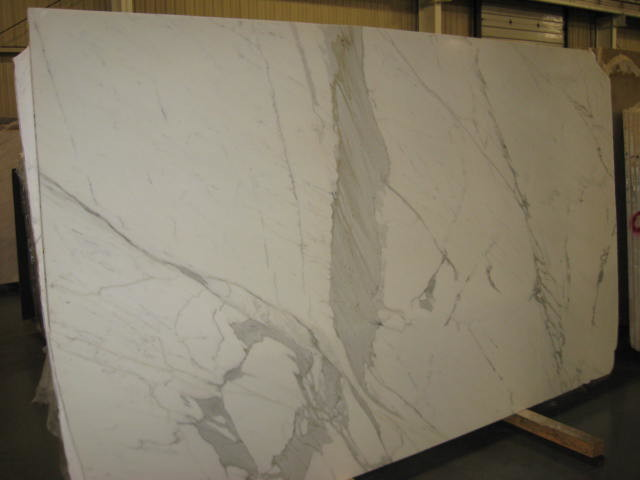 Calacatta Gold Extra Marble Slab Traditional Kitchen