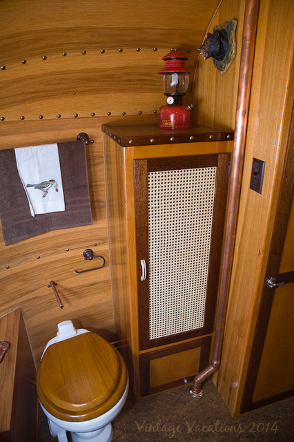 1977 adirondack airstream restoration rustic other for Adirondack bathroom ideas