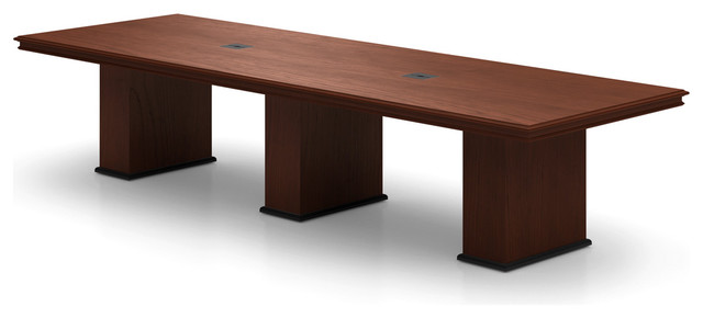 Abena Rectangular Conference Table by Nevers Industries - Modern - Desk Accessories