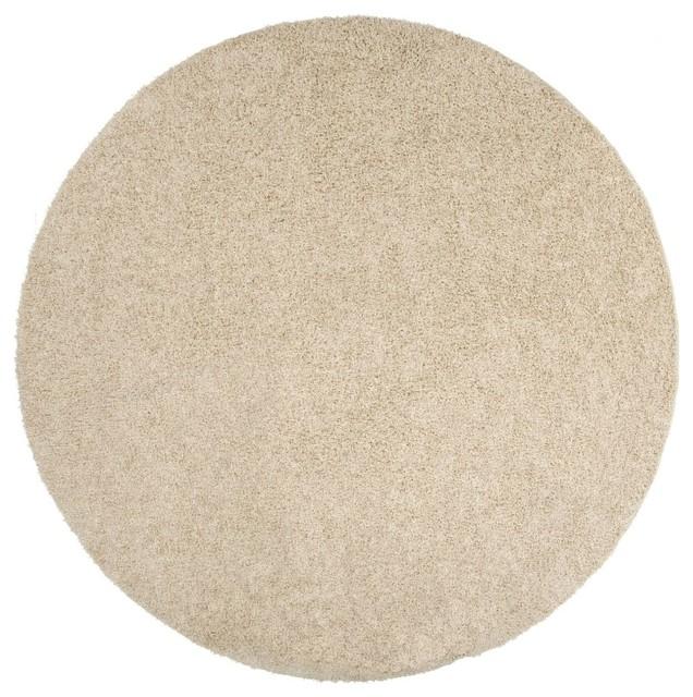 Shag crinkle round 8 39 round putty area rug contemporary for Round contemporary area rugs