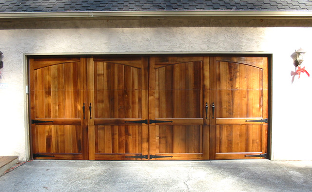 Wood stained garage doors modern san diego by for Stained garage doors