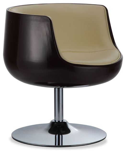 Mojito Brown-Beige Lounge Chair - Contemporary - Armchairs And Accent ...